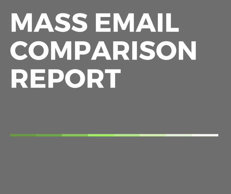 Mass Email Comparison Report Cover